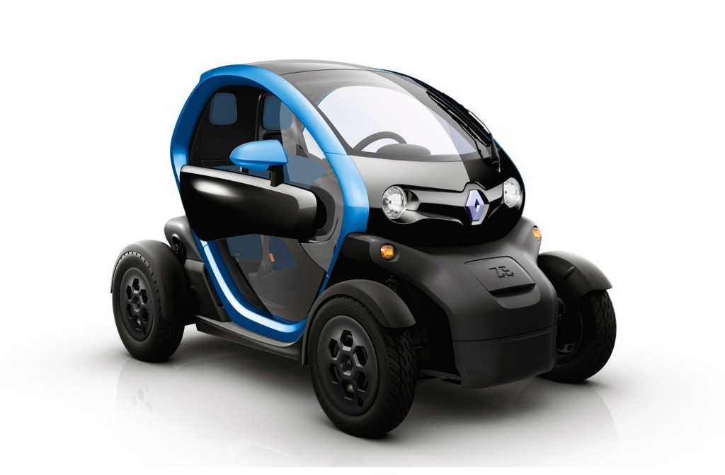 electricway carsharing electrico en Madrid twizy azul metalico